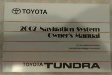 2007 TOYOTA TUNDRA NAVIGATION SYSTEM OWNERS MANUAL GUIDE 07 OEM