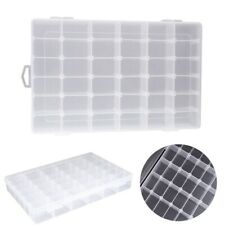 36 Slots Clear Plastic Jewelry Storage Box Beads Case Organizer Tools w/Dividers
