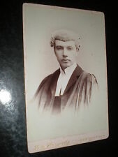 Old cabinet photograph barrister London Stereoscopic  c1890s