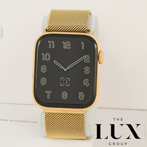 24K Gold Plated Apple Watch Series 4 w/ 24k Gold Milanese 40mm GSM CELLULAR