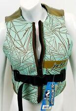 $125 Womens Jet Pilot by Body Glove LUXE Comp Vest Water Ski Jacket Ladies Green