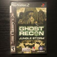 Tom Clancy's Ghost Recon: Jungle Storm (Sony PlayStation 2, 2004) - Complete
