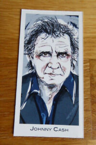 JOHNNY CASH CARD #2 LEGENDS OF ROCK BY GOOD TIMES CREATIONS