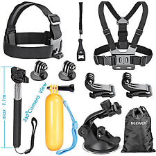 Neewer 8-in-1 Kit di Accessori per Sport all'Aperto per GoPro Hero 4 3+ 3 2 1