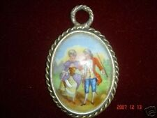 Vintage Limoge Picture Walking To The Park Pendant