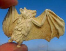Maniche a Pipistrello con teschio, skull da CORNO SCOLPITO Memento Mori-miracolo camera!