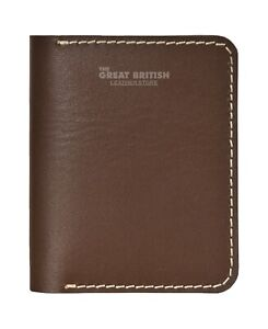 Unisex Brown Leather Small Id Credit Card & Money Wallet Holder Slim Pocket Case