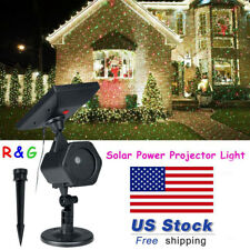 Solar Powered Panel Led Laser Projector Magic Light Garden Holiday Party Decor