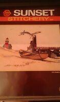 "Vintage 1986 Sunset Stitchery Crewel Embroidery Kit 2427 Ebb Tide 9"" x 12"""