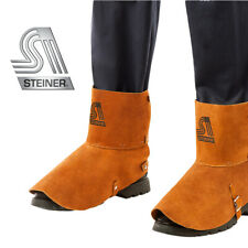 Genuine Steiner 12185 Welding Premium Split Cowhide Shoe Spats