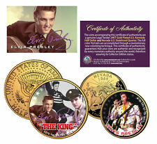 ELVIS PRESLEY *The King* Nevada Quarter & JFK Half Dollar 2-Coin Set *LICENSED*