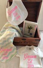 Baby Gift Set~Memory Wooden Box~Baby Shower~Custom~Free Shipping