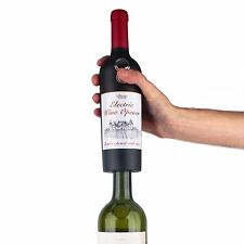 Eléctrico en forma de botella de vino Sacacorchos abridor sin cable cortador de papel de aluminio automático rápido