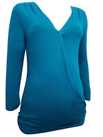Plus Size Maternity Cotton 3/4 Breastfeeding Top 6 8 10 12 14 16 18 20 22 24 26