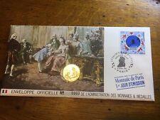 ENVELOPPE MONNAIES MAIDAILLES OFFICIELLE  1 JOUR D'EMISSSION  MOZART