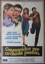 Used - Cartel de Cine  CONSUMIDOS POR ARDIENTE PASION  Vintage Movie Film Poster