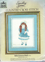 RARE! Bebe Jumeau Doll LARGE Counted Cross Stitch Kit DMC Something Special