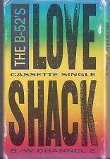The B-52's Love Shack / Channel Z CASSETTE SINGLE USA 1989 Pop Rock Reprise