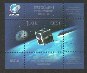 ESTONIA 2013 FIRST ESTONIAN SATELLITE SOUVENIR SHEET OF 1 STAMP MINT MNH UNUSED