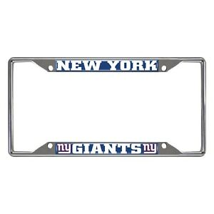 Fanmats NFL New York Giants Chrome Metal License Plate Frame Delivery 2-4 Days