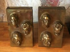 MARION BRONZE PRESIDENT Bookends: Lincoln Washington Jefferson Bust MB Art Deco