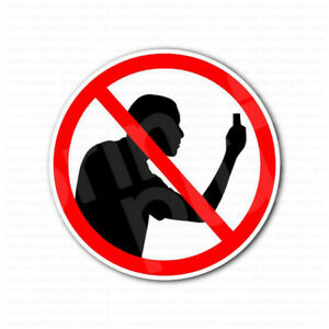 No Photo Taking No Cameras Allowed Sign Sticker