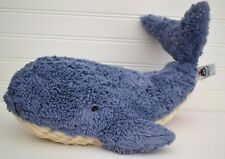 """JELLYCAT Wowser Wilber Blue Plush Beans Whale Lovey Jelly Cat 17"""""""