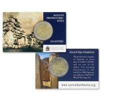 "Coincard Malta 2 euro 2016 Unc ""Ggantija tempels"" Commerative - In Stock!"