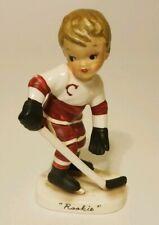 Napco Hockey Rookie Boy Porcelain Figurine January A2715 Japan Vintage