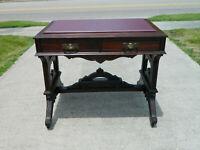 Small Walnut Eastlake Desk Lamp Table circa 1880