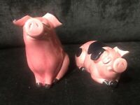 Vintage Anthropomorphic Pig Salt And Pepper Shakers Made In Japan Stamped H92