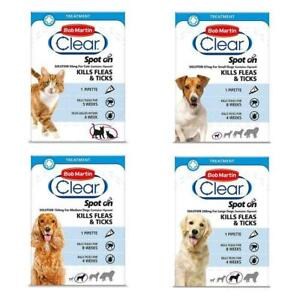 Bob Martin Clear Spot On Flea Treatment Cats Dogs Kills Fleas Ticks Free Post