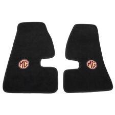 MGA Footwell mats MG logo Black Embroidered ultra plush Pair Non slip rubber
