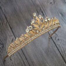 Elegant Baroque Crystal Tassel Bride Tiara Crown Hairband Wedding Hair Jewelry