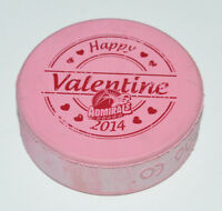 MILWAUKEE ADMIRALS Happy Valentine's Day 2014 Logo PINK COLORED AHL PUCK 2-Sided