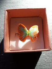 Brand new light orange butterfly childs ring size J.5! Childrens kids jewellery!