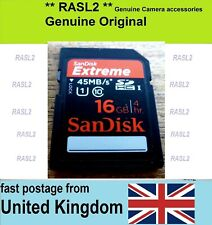 SanDisk 16 GB SD-HC U1 Memory card For Camera Camcorder Canon Panasonic Sony JVC
