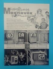 New ListingMagnavox Television * Rare Vintage 1954 Promo Poster * Suitable For Framing