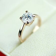 1.5Ct Perfect Brilliant Round Cut 18K Rose Gold GP Women Engagement Wedding Ring