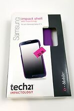 NEW Tech21 6PSFzu1 Impact Shell For Samsung Galaxy S4 Purple Case 3DO Protection
