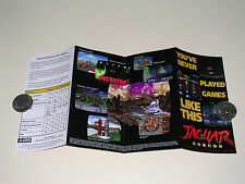 "1993 Atari Jaguar brochure ""You've Never Played Games Like This"" -Near Mint/Mint"