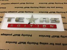NEW JEEP 1 PIECE FORD TEXAS EDITION STAR EMBLEM DOOR FENDER TRUNK CHROME RED