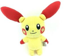 POKEMON Tomy Plusle Stuffed Animal Plush Toy Red Yellow Plus Sign