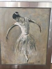 Ballerina - Oil Or Acrylic On Canvas -signed BJ