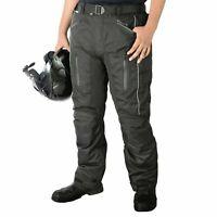 Motorbike Motorcycle Waterproof Cordura Textile Trousers Pants Armour BLACK