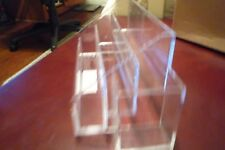 Avon clear acrylic nail caddy, 3 tiers and side compartment