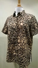 Women's Animal Print Fitted Hip Length Blouse Tops & Shirts