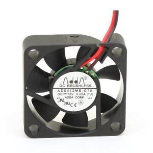 """DC QUIET FAN 40mm x 10mm (1.6"""") 12VDC, 0.08A, 3D PRINTER, ADDA, US SELLER"""