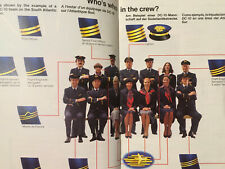 SWISSAIR AIRLINES PROFILE SERVICES BROCHURE 1979 ROUTE MAP B747 DC8 SEAT CHART