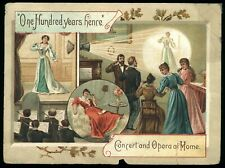 One Hundred Years Hence Concert and Opera at Home Victorian Trade Card Heydt